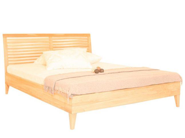 Ліжко Жизель натурального кольору, матеріал - бук цільний (загальний вигляд).