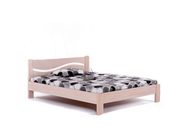 Кровать Венеция бук односпальная беж срощенная 900 х 2000 Общий вид