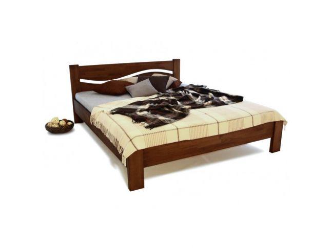 Ліжко Венеція бук односпальне горіх зрощене 900 х 2000