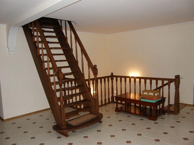 Лестница Гусиный Шаг с прямым маршем открытого типа (общий вид)