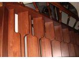 Лестница Гусиный Шаг с прямым маршем открытого типа (вид сбоку)