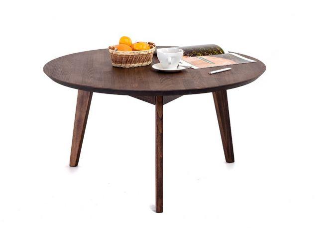Стол журнальный Данте темно-коричневого цвета, материал - бук срощенный (общий вид)