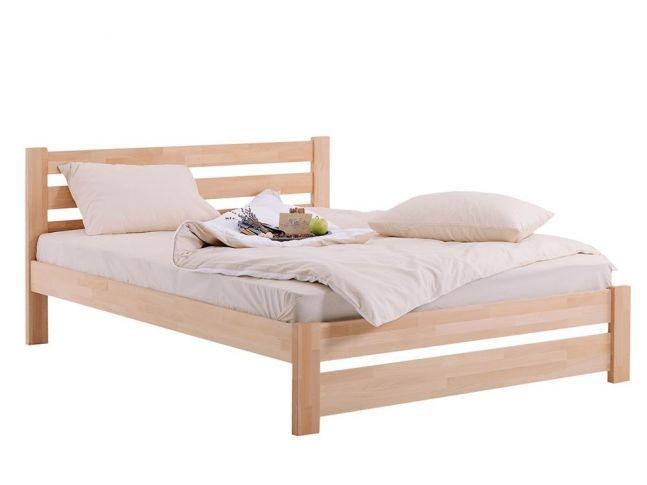 Ліжко Кароліна натурального кольору, матеріал - бук зрощений (загальний вигляд)