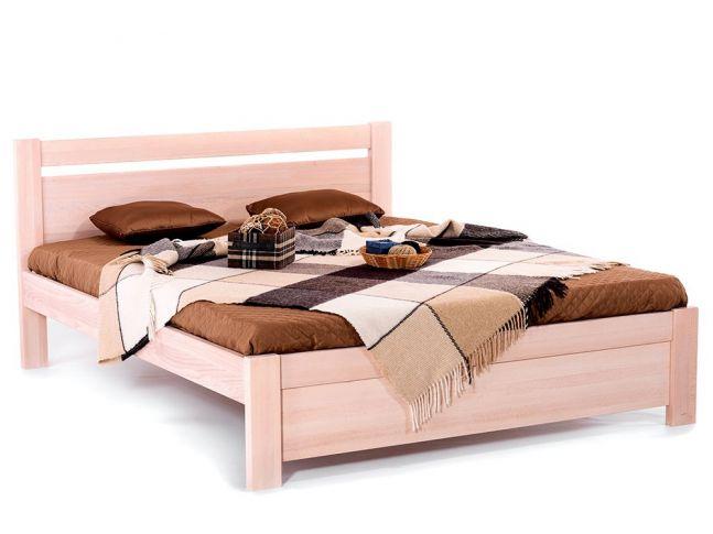 Ліжко Мілана бежевого кольору, матеріал - бук цільний (загальний вигляд)