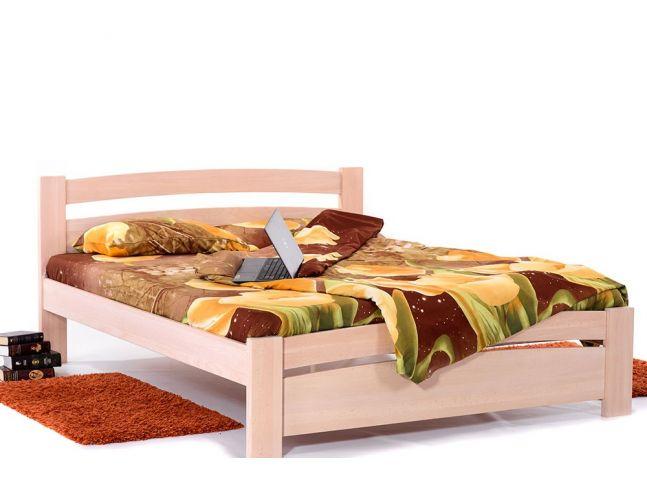 Ліжко Софія бежевого кольору, матеріал - бук цільний (загальний вигляд)