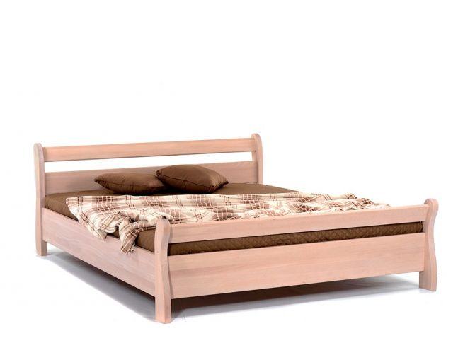 Ліжко Міледа білого кольору, матеріал - бук цільний (загальний вигляд).