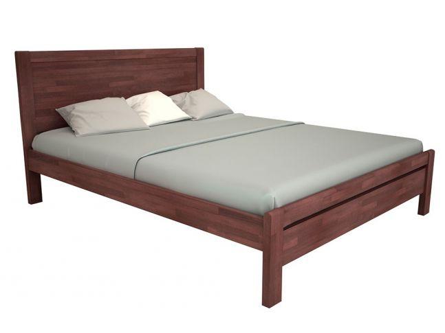 Кровать Скарлет коричневого цвета, материал - бук срощенный (общий вид)