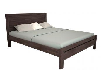 Ліжко Скарлет темно-коричневого кольору, матеріал - бук зрощений (загальний вигляд)