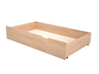 Ящик под кровать белого цвета, материал - бук срощенный (общий вид)