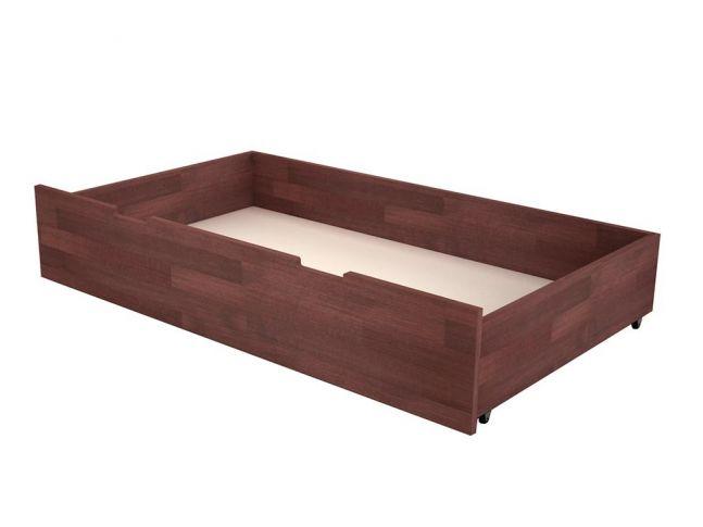Шухляда під ліжко коричневого кольору, матеріал - бук зрощений (загальний вигляд)