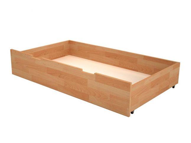 Ящик под кровать натурального цвета, материал - бук срощенный (общий вид)