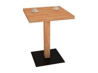 Столик для кафе натурального цвета, материал - бук срощенный (общий вид)
