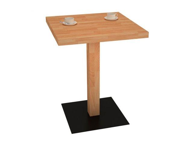 Столик для кафе натурального кольору, матеріал - бук зрощений (загальний вигляд)