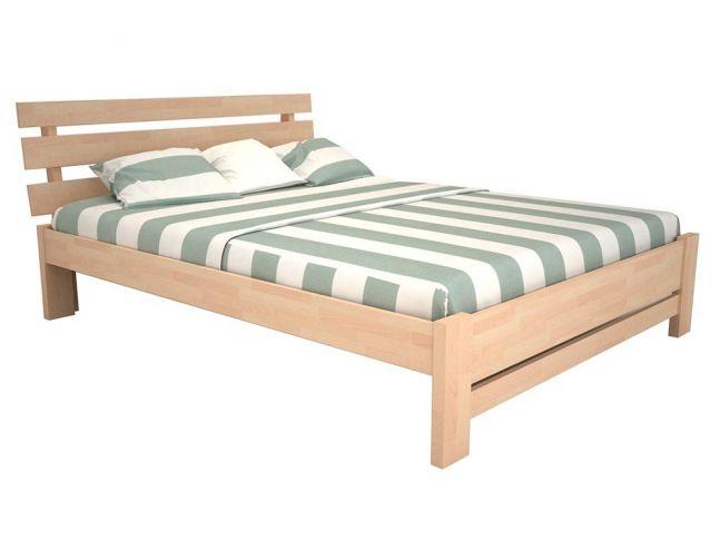 """Ліжко Лучана """"плюс"""" лак натурального кольору, матеріал - бук зрощений (загальний вигляд)"""