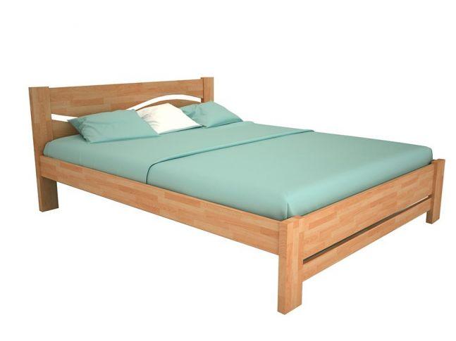 """Ліжко Венеція """"плюс"""" натурального кольору, матеріал - бук зрощений (загальний вигляд)"""