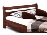 Ліжко Міледа коричневого кольору, матеріал - бук зрощений (вигляд збоку).