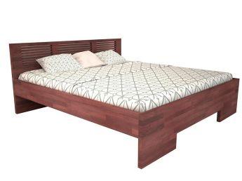 Ліжко Тайгер коричневого кольору, матеріал - бук зрощений (загальний вигляд)