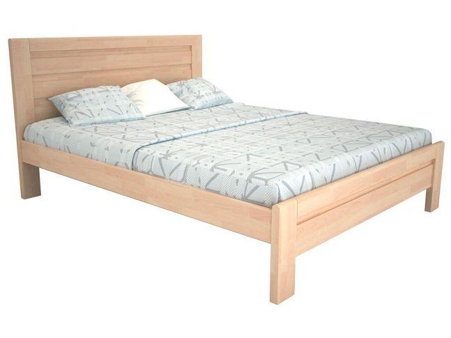 Кровать Люкс белого цвета, материал - бук срощенный (общий вид)
