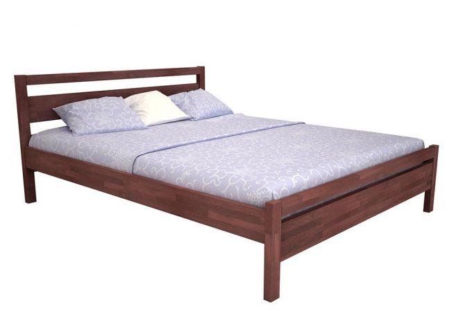 Кровать Виктория коричневого цвета, материал - бук срощенный (общий вид)