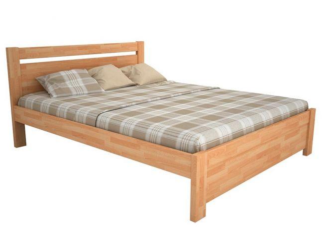 Ліжко Мілана натурального кольору, матеріал - бук зрощений (загальний вигляд)