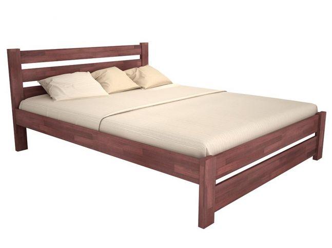 Купить Кровать Каролина цвета орех, материал - бук срощенный (общий вид)