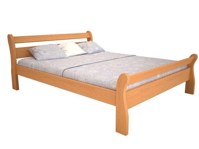 """Ліжко Міледа """"плюс"""" натурального кольору, матеріал - бук цільний (загальний вигляд)"""