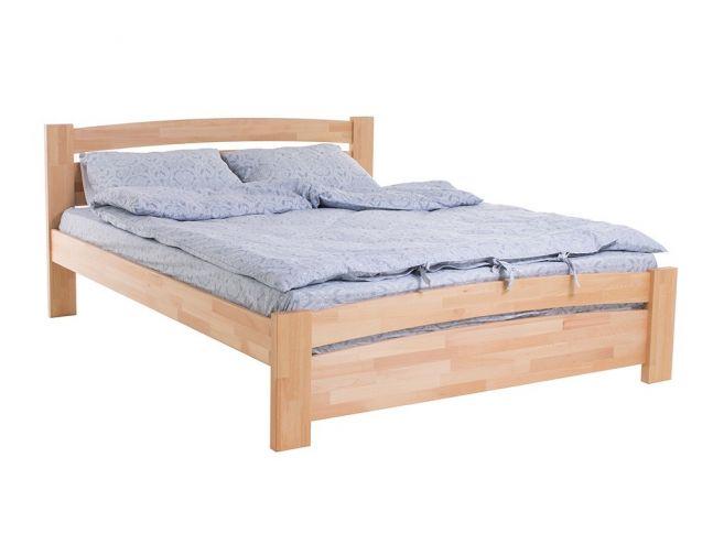 Ліжко Софія натурального кольору, матеріал - бук зрощений (загальний вигляд)