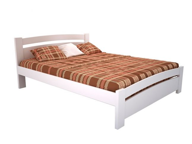 Ліжко Софія білого кольору, матеріал - бук зрощений (загальний вигляд)