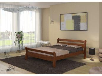 """Кровать Миледа """"плюс"""" цвета венге лак, материал - бук сращенный (в интерьере)"""