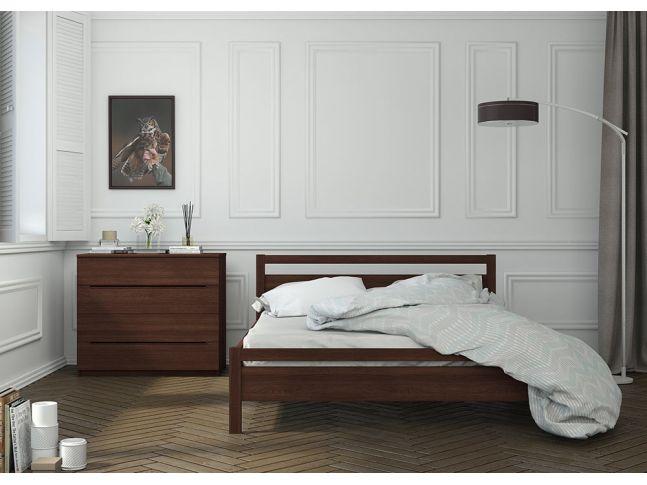 Спальня Виктория Мини цвета венге, материал цельный бук (в интерьере)