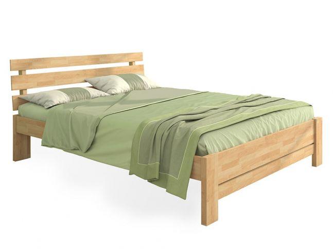 """Ліжко Лучана """"плюс"""" натурального кольору, матеріал - бук зрощений (загальний вигляд)"""