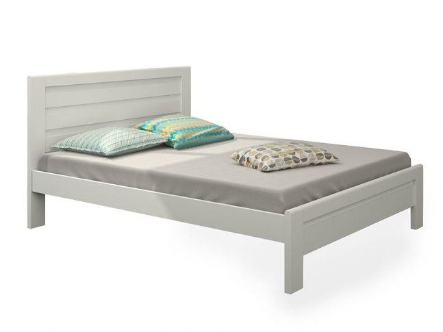 Ліжко Люкс білого кольору, матеріал - бук зрощений (загальний вигляд)