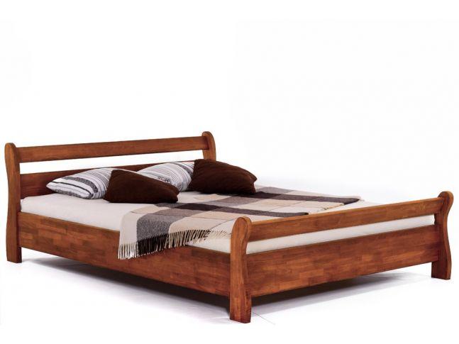 Ліжко Міледа світло-коричневого кольору, матеріал - бук зрощений (загальний вигляд).