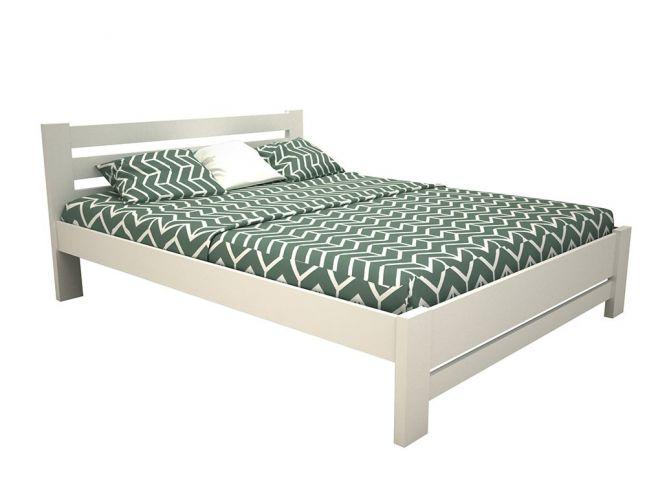 """Ліжко Сільвана """"плюс"""" білого кольору лак, матеріал - бук зрощений (загальний вигляд)"""