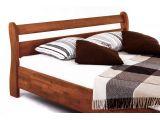 Ліжко Міледа світло-коричневого кольору, матеріал - бук зрощений (вигляд збоку).