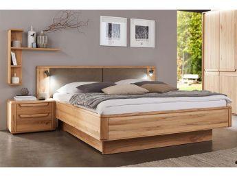 Ліжко Глорія натурального кольору, матеріал зрощений/цільний бук (загальний вид)