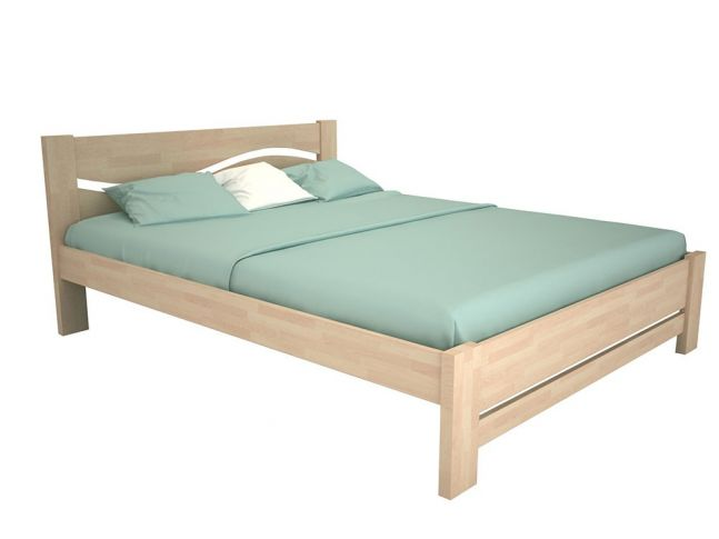 """Ліжко Венеція """"плюс"""" кольору беж, матеріал - бук зрощений (загальний вигляд)"""