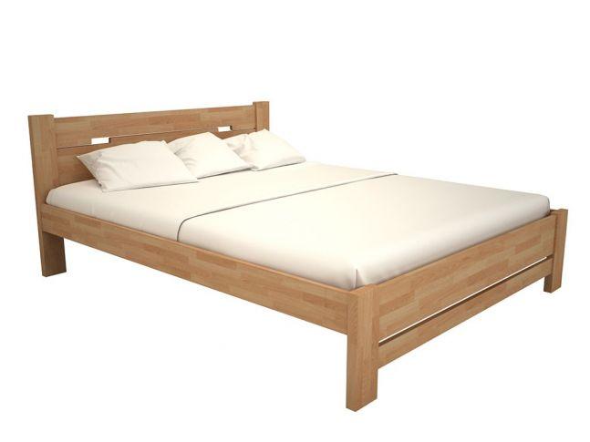 """Ліжко Селена """"плюс"""" натурального кольору, матеріал - бук зрощений (загальний вигляд)"""