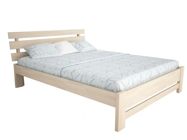 """Кровать Лучана """"плюс"""" цвета беж, материал - бук срощенный (общий вид)"""
