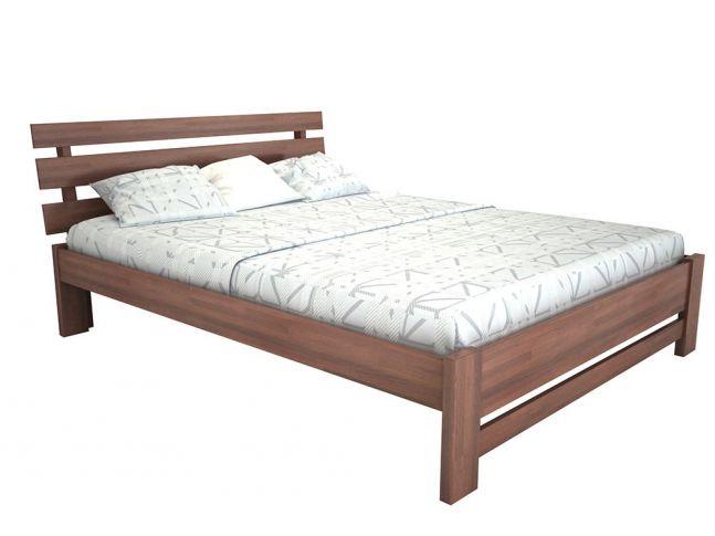"""Кровать Лучана """"плюс"""" лак коричневого цвета, материал - бук срощенный (общий вид)"""