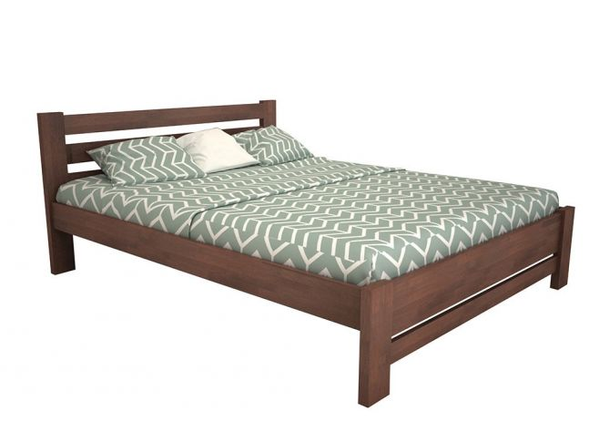 """Кровать Сильвана """"плюс"""" коричневого цвета лак, материал - бук срощенный (общий вид)"""