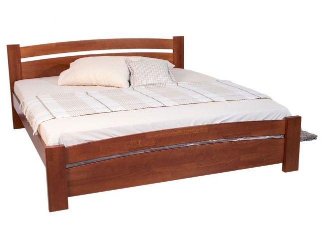 Ліжко Софія коричневого кольору покриття лак, матеріал - бук зрощений (загальний вигляд)