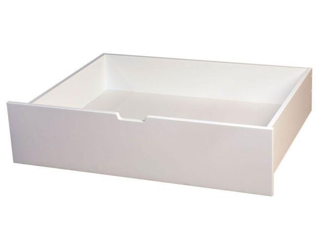 Шухляда під ліжко білого кольору покриття лак, матеріал - бук зрощений (загальний вигляд)