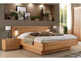 Купити Ліжко Ніколь натурального кольору, матеріал зрощений/цільний бук (загальний вигляд в інтер'єрі)