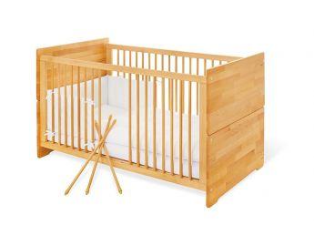 Купити Дитяче ліжечко трансформер Whity натурального кольору, матеріал - бук зрощений (для новонароджених і немовлят)