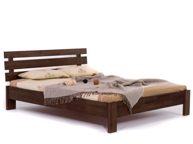 Ліжко Лучана темно-коричневого кольору, матеріал - бук зрощений (загальний вигляд)