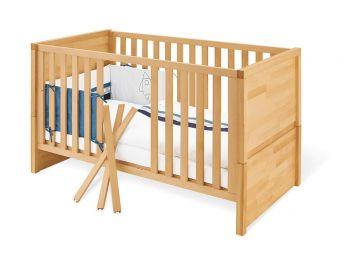 Купити Дитяче ліжечко трансформер Alpaka натурального кольору, матеріал - бук зрощений (для новонароджених і немовлят)