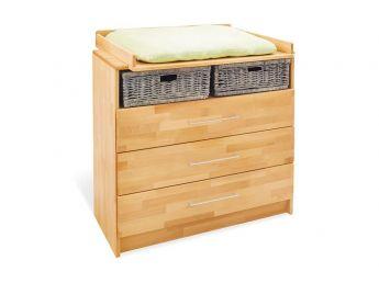 Купити Комод-пеленатор Whity 100 натурального кольору, зрощений бук, покриття олія з пеленатором