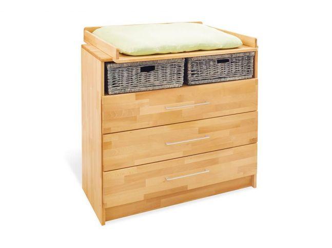 Купить Комод-пеленатор Whity 100 натурального цвета, сращенный бук, покрытие масло с пеленатором