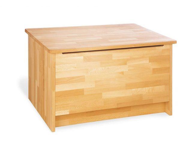 Ящик для іграшок Whity натурального кольору, зрощений бук, покриття лляна олія (загальний вид)